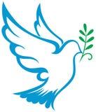 Simbolo della colomba di vettore Immagini Stock Libere da Diritti