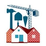 Simbolo della costruzione di alloggi per l'affare Immagine Stock