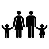 Simbolo della famiglia Fotografia Stock Libera da Diritti