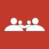 Simbolo della famiglia Immagine Stock Libera da Diritti