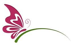 Simbolo della farfalla Immagine Stock Libera da Diritti