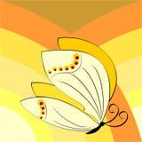 Simbolo della farfalla della molla Immagine Stock