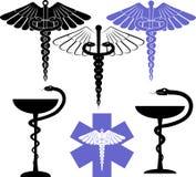 Simbolo della farmacia e medico illustrazione vettoriale