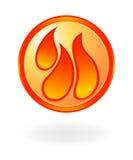 Simbolo della fiamma Fotografie Stock Libere da Diritti