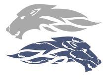 Simbolo della fiamma del lupo Immagine Stock