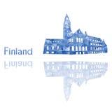 Simbolo della Finlandia illustrazione di stock
