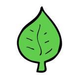 simbolo della foglia del fumetto Immagine Stock