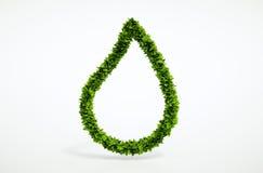 Simbolo della goccia di acqua dello spazio in bianco di Eco Immagine Stock Libera da Diritti