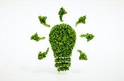Simbolo della lampadina di ecologia Immagini Stock