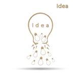 Simbolo della lampadina di Llight Fotografia Stock