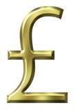 Simbolo della libbra britannica Fotografia Stock Libera da Diritti