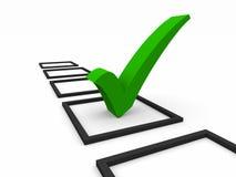 Simbolo della lista di assegno Immagini Stock Libere da Diritti