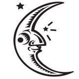 Simbolo della luna Immagine Stock Libera da Diritti