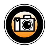 Simbolo della macchina fotografica di Digitahi Immagini Stock