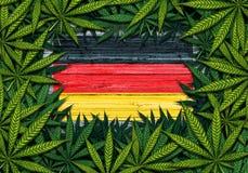 Simbolo della marijuana della Germania illustrazione vettoriale