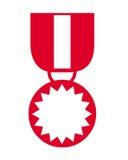 Simbolo della medaglia Immagini Stock