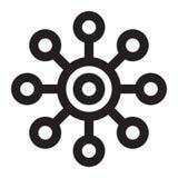 Simbolo della molecola Fotografia Stock Libera da Diritti