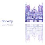Simbolo della Norvegia Fotografia Stock