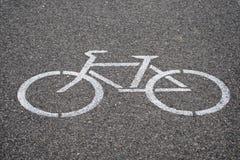 Simbolo della pista ciclabile Fotografie Stock