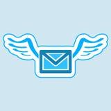 Simbolo della posta. Fotografia Stock