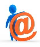 Simbolo della posta Fotografia Stock
