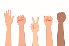 Simbolo della protesta delle donne Fotografia Stock Libera da Diritti
