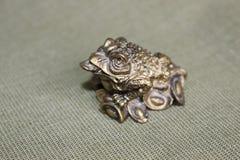 Simbolo della rana, portante soldi, prosperità fotografia stock