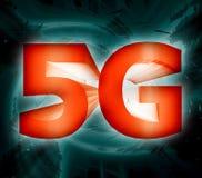 simbolo della rete 5G Fotografia Stock Libera da Diritti