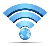 Simbolo della rete wireless Fotografia Stock Libera da Diritti