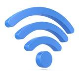 Simbolo della rete wireless Fotografie Stock Libere da Diritti