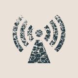 Simbolo della rete wireless dei Wi Fi fotografia stock libera da diritti
