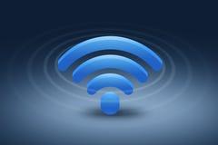 Simbolo della rete wireless onda di wifi Immagini Stock Libere da Diritti