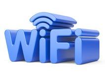 Simbolo della rete wireless - WiFi Immagini Stock