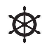 Simbolo della ruota del ` s della nave Illustrazione piana di vettore Immagine Stock Libera da Diritti