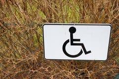 Simbolo della sedia a rotelle Fotografia Stock Libera da Diritti