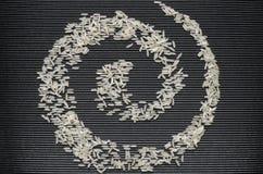Simbolo della spirale di riso Immagini Stock Libere da Diritti