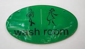 Simbolo della stanza di lavaggio Fotografia Stock