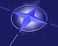 Simbolo della stella di NATO Immagine Stock Libera da Diritti