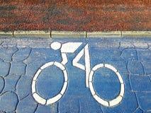 Simbolo della strada della bicicletta Immagini Stock Libere da Diritti