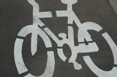 Simbolo della strada di ciclo immagine stock