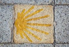 Simbolo della strada di Santiago fotografia stock libera da diritti