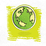 Simbolo della terra, stile painterly semplice illustrazione di stock