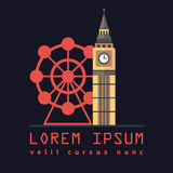 Simbolo della torre Big Ben di Londra Royalty Illustrazione gratis