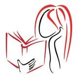 Simbolo delle biblioteche Fotografie Stock Libere da Diritti