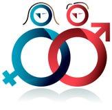 Simbolo delle coppie Fotografie Stock Libere da Diritti
