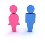Simbolo delle donne e degli uomini Fotografia Stock