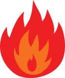 Simbolo delle fiamme del fuoco isolate Fotografia Stock Libera da Diritti