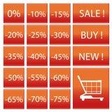 Simbolo delle percentuali Immagini Stock