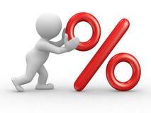 Simbolo delle percentuali Immagini Stock Libere da Diritti