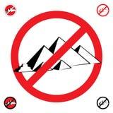Simbolo delle piramidi Immagine Stock